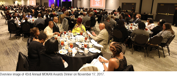 Panoramic image of MOKAN 43rd Awards Dinner on Nov. 17, 2017